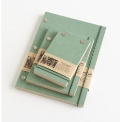 Carnet en papier kraft turquoise