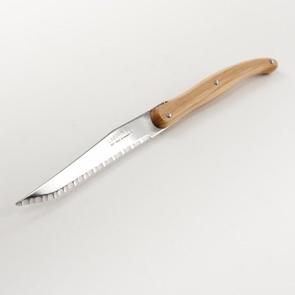 Couteau de table laguiole manche en olivier - Couteau de table ...