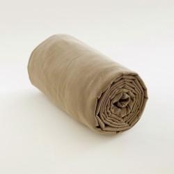 Drap housse en lin coton sable alliant la fraicheur du lin et la douceur du coton.