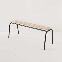 véritable banc d'école 120cm noir 100% made in France