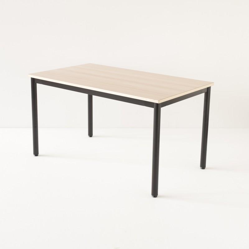 Table décole 140x80cm noire plateau stratifié hêtre