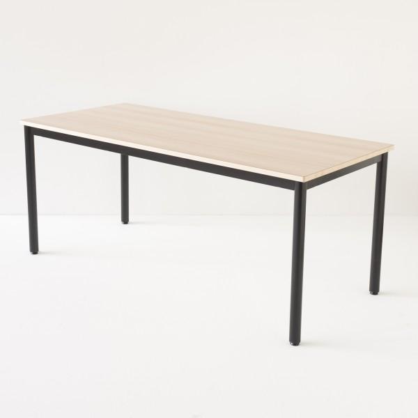 Table décole 180x80cm noire plateau stratifié hêtre