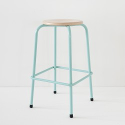 tabouret de bar turquoise 100% made in France