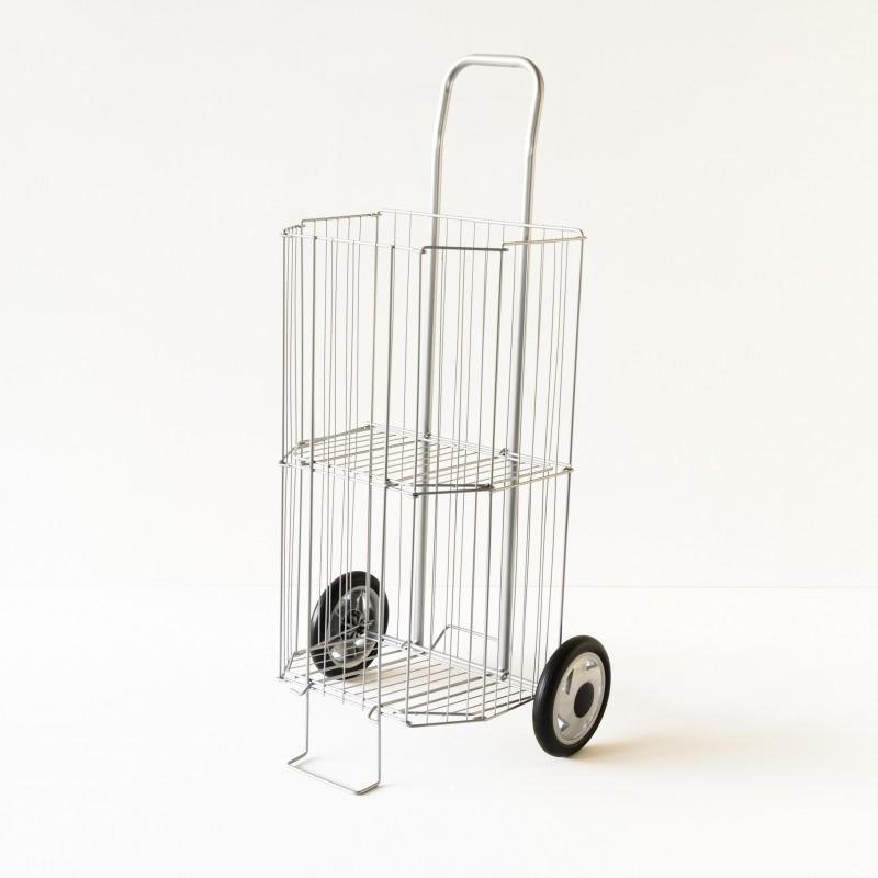 caddy de march pliant coloris gris. Black Bedroom Furniture Sets. Home Design Ideas