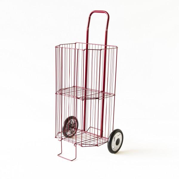 caddy de march pliant coloris rouge bordeaux. Black Bedroom Furniture Sets. Home Design Ideas