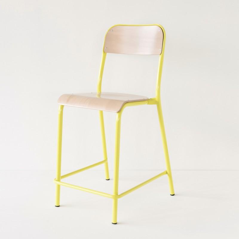 chaise d 39 cole rehauss e jaune. Black Bedroom Furniture Sets. Home Design Ideas