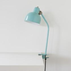 luminaire à pince coloris turquoise