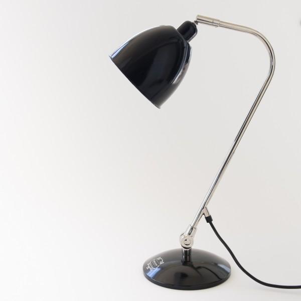 lampe poser vintage coloris noir. Black Bedroom Furniture Sets. Home Design Ideas