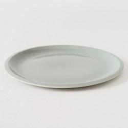 assiette en grès coloris zinc XL Cantine de chez Jars Céramistes
