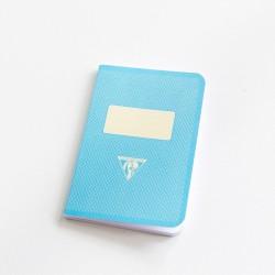Carnet de poche couverture rétro turquoise