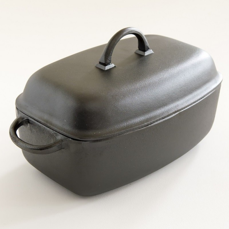 cocotte ovale en fonte brute non maill e 5 5 litres. Black Bedroom Furniture Sets. Home Design Ideas