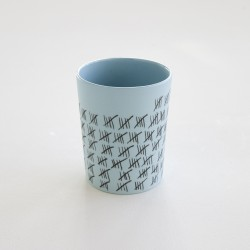 gobelet porcelaine mate bleu