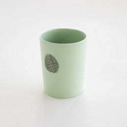 gobelet porcelaine mate vert