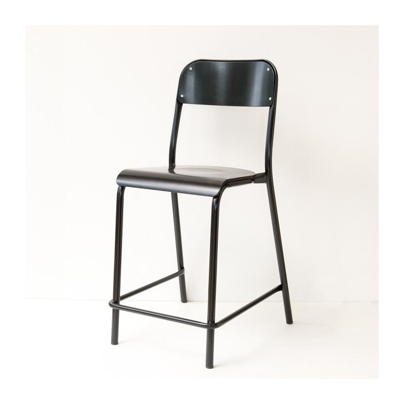 chaise d 39 cole rehauss e laqu e noire. Black Bedroom Furniture Sets. Home Design Ideas