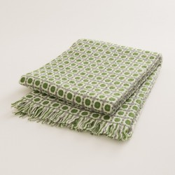 plaid laine naturelle seventies vert