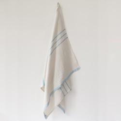 serviette MM/GM lin gris bleu
