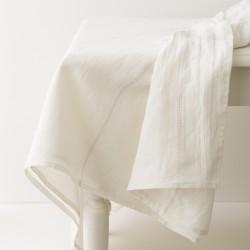 nappe lin lavé blanc liseré ficelle de chez Charvet Editions