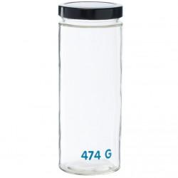 Bocal en verre Anastasia GM avec tare pour épicerie en vrac