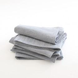 Serviette 45x45 en lin délavé lavande par Charvet Editions (Nord).