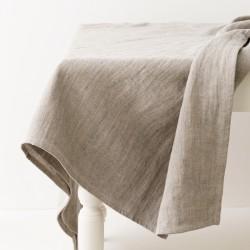 Nappe en lin épais délavé gris par Charvet Editions