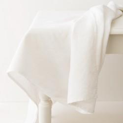 nappe en lin blanche de chez Charvet Editions