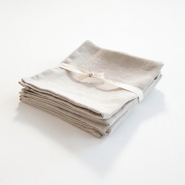 serviette de table en lin naturel. Black Bedroom Furniture Sets. Home Design Ideas