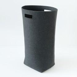 panier a linge feutre gris graphite