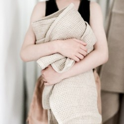 serviettes peignoirs en lin