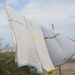 serviettes et peignoirs en lin