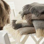 Plaids et châles en laine