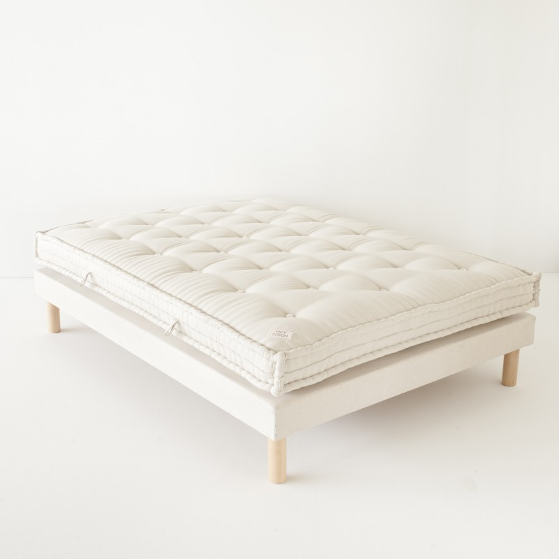 matelas une face laine 1 face coton pour lit 2 personnes. Black Bedroom Furniture Sets. Home Design Ideas