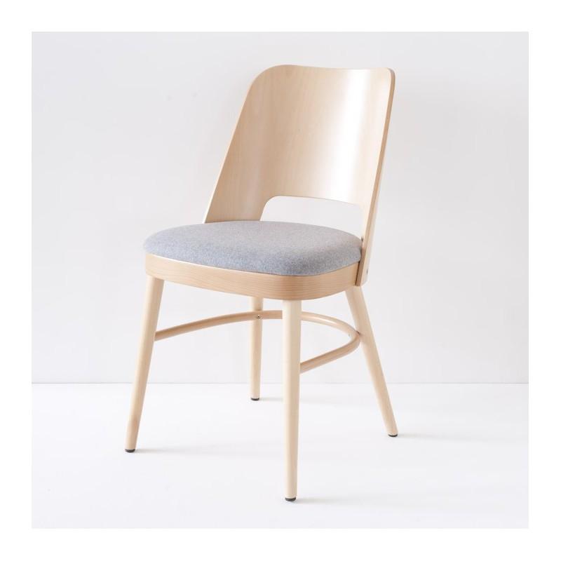 chaise vintage ann es 50 en h tre courb. Black Bedroom Furniture Sets. Home Design Ideas
