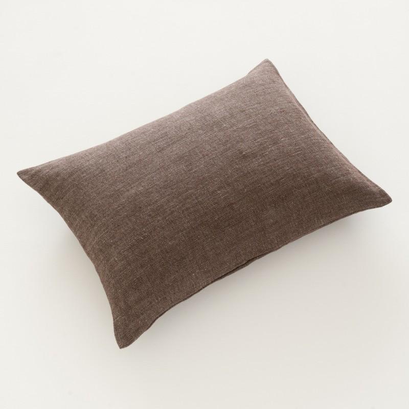 housse de coussin en lin natt corce 50x70 100 made in france. Black Bedroom Furniture Sets. Home Design Ideas