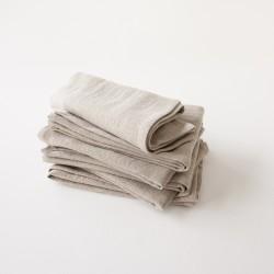 Serviette 45x45 en lin délavé naturel par Charvet Editions (Nord).