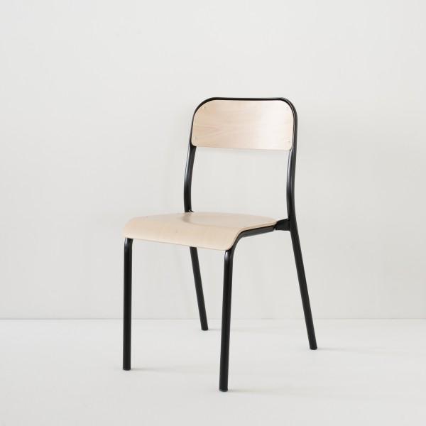 véritable chaise d'école 100% made in France coloris noir