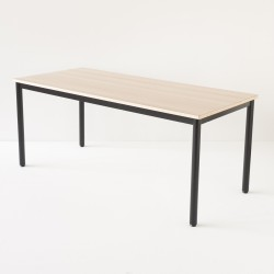 véritable table d'école 180cm noire 100% made in France