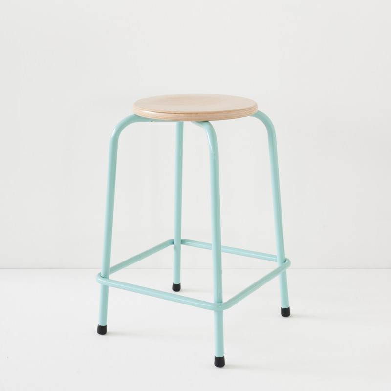 tabouret d 39 cole turquoise hauteur 60cm. Black Bedroom Furniture Sets. Home Design Ideas