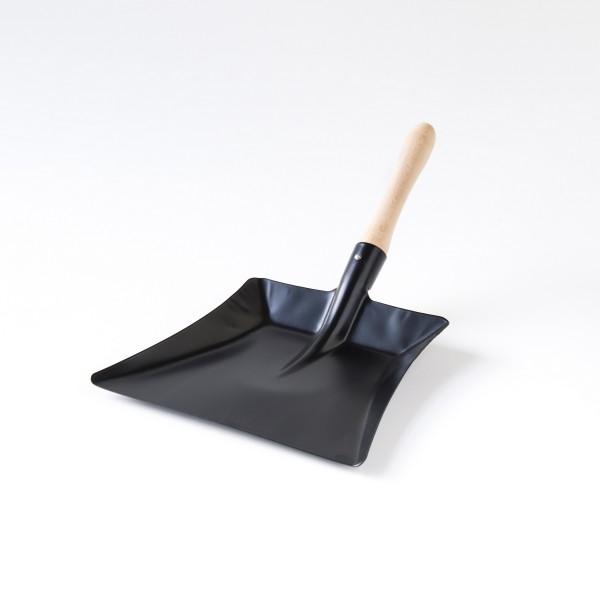 pelle à poussière métal noir