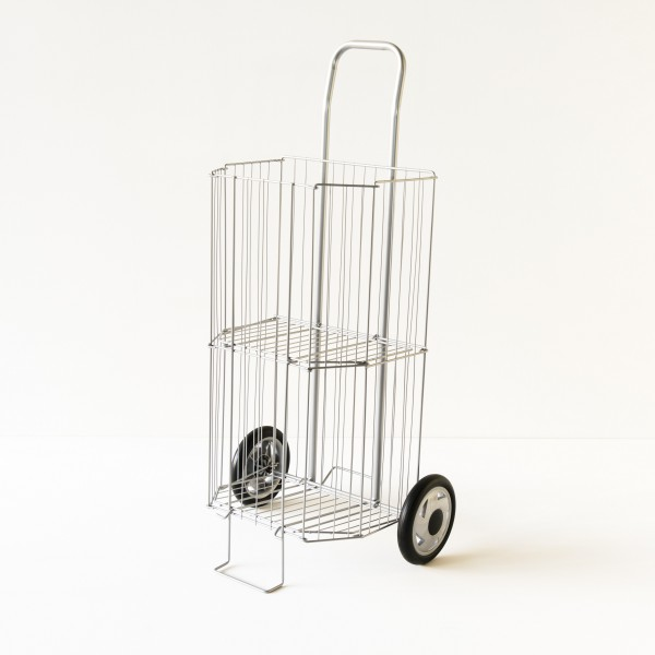 caddy de march pliant coloris gris chariot courses. Black Bedroom Furniture Sets. Home Design Ideas