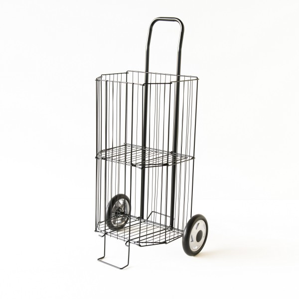 Caddy de march pliant coloris noir chariot courses - Chariot course pliable ...