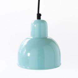suspension conique coloris turquoise