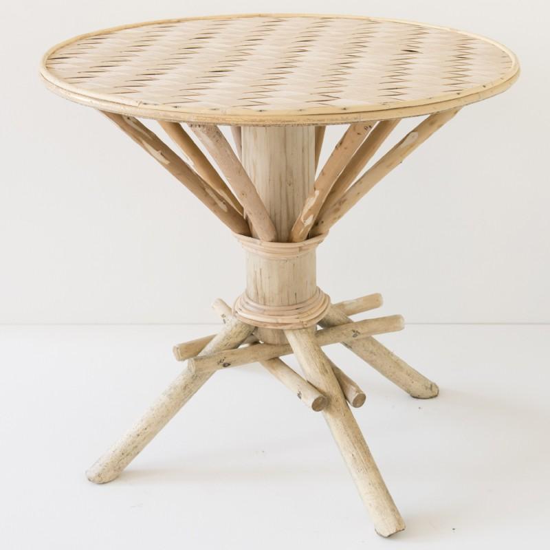 Table vintage bois et métal - Landmade - LANDMADE