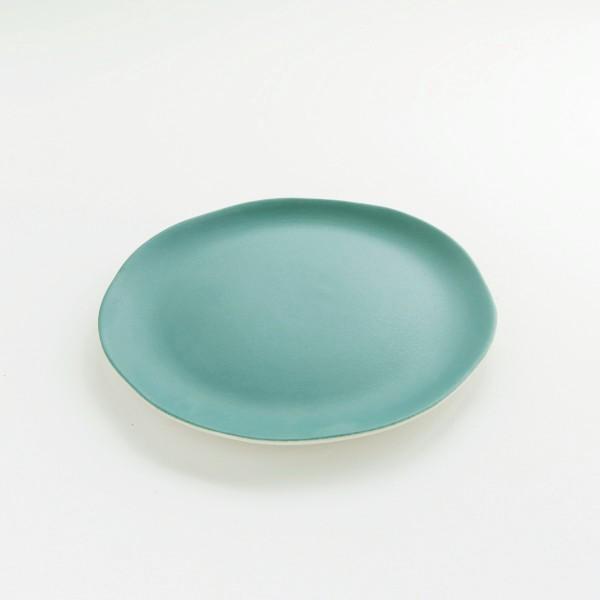assiette en grès Jardin de Maguelonne taille S coloris poireau de chez Jars céramistes