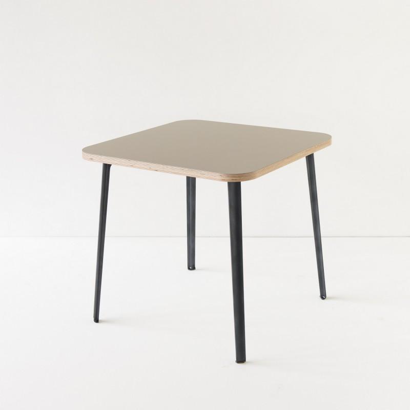 Table linoleum 800x80 coloris gris pieds au choix