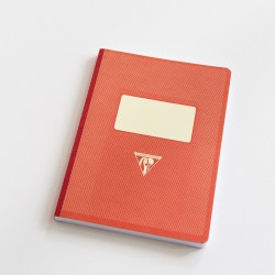 Cahier A5 dos toilé couverture rétro orange