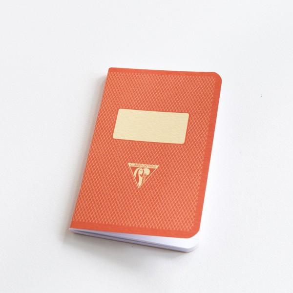 Carnet de poche couverture rétro orange
