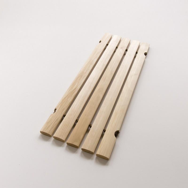 Tapis de bain en lattes de bois huil petit mod le for Tapis salle de bain bois