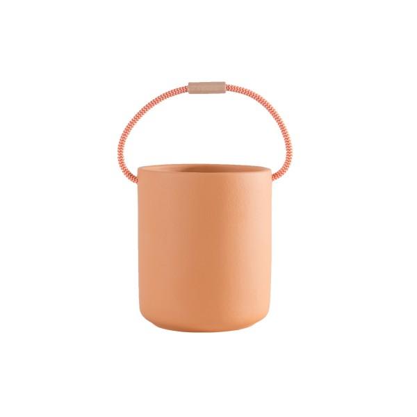pot céramique orange avec anse GM Federica Bubani