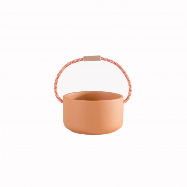 pot céramique orange avec anse PM