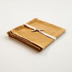 serviette en lin curry de chez Charvet Editions